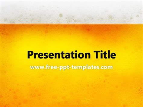 beer bottleneck label powerpoint template beer ppt template