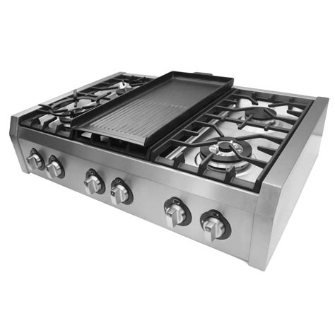 Cosmo 36 in Gas Cooktop with 6 Burners and Removable
