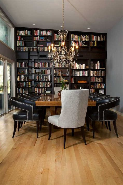 salle  manger moderne avec bibliotheque en  exemples