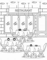 Restaurant Coloriage Coloring Imprimer Artherapie Colorir Tous Adult Dessin Gratuit Mandala Colouring Restaurants Pintar Halloween Maison Hantee Paisagens Colorier Freepik sketch template