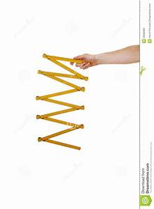 Arm With Wood Ruler Royalty Free Stock Photo - Image