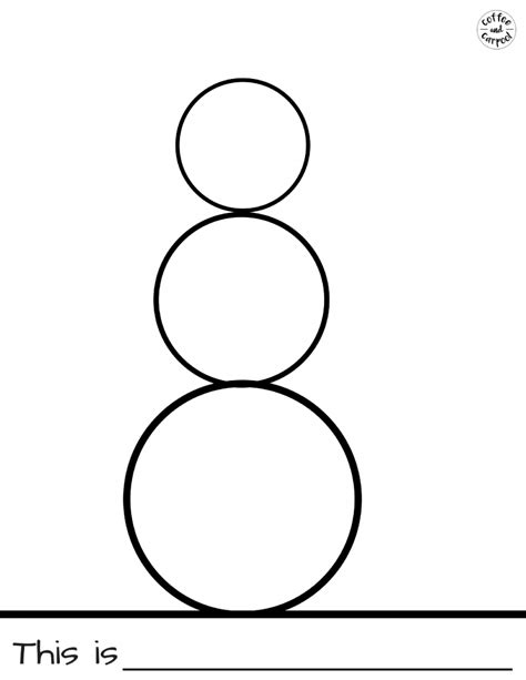 Snowman Template And Simple Snowman Project With Free Printables