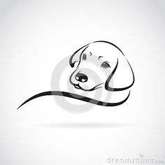 labrador head  rock mosaic dog canvas painting dog