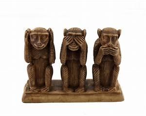 Statue Singe De La Sagesse : 3 singes de la sagesse en resine artisanat du monde h 9 ~ Teatrodelosmanantiales.com Idées de Décoration