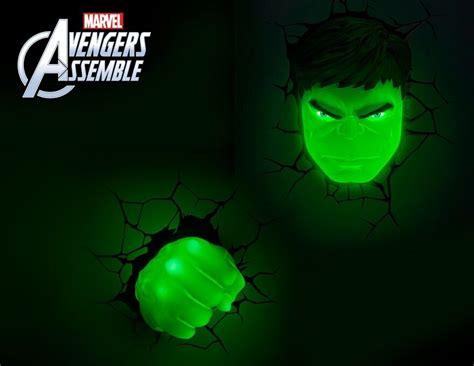 marvel avengers hulk 3d deco light fx led wall light