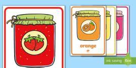 confiture retourner les pots flashcards les couleurs couleurs colours cycle 1