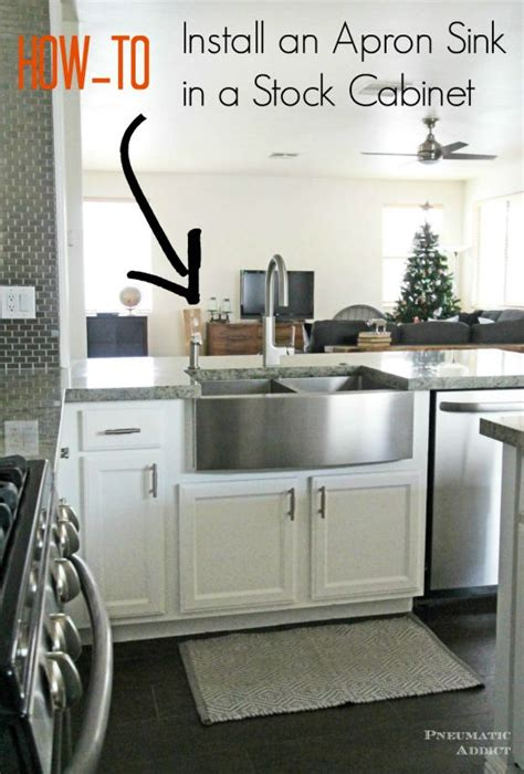 learn   modify  cabinet  accomidate  apron front