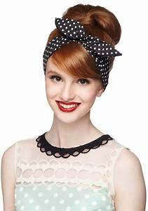 50er Jahre Style : rockabilly frisur mit haarband gepunktet hochsteckfrisur 50er jahre rock 39 n 39 roll fashion ~ Sanjose-hotels-ca.com Haus und Dekorationen