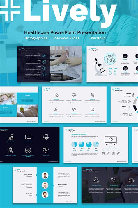 lively healthcare   powerpoint template