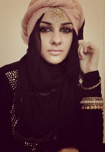 modern arabic hijab styles  women step  step