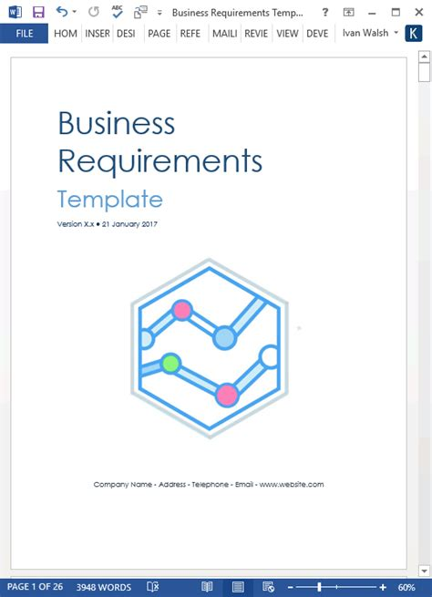 write business requirements specifications part