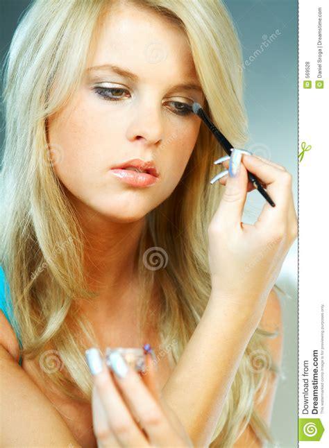 girl  makeup stock photo image  enjoy fresh good