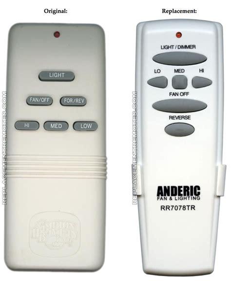 hampton bay gpbtauc replacement remote control