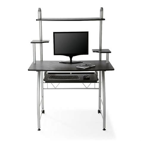 black glass desk office depot realspace zillope ii computer desk 56 14 h x 39 38 w x 23