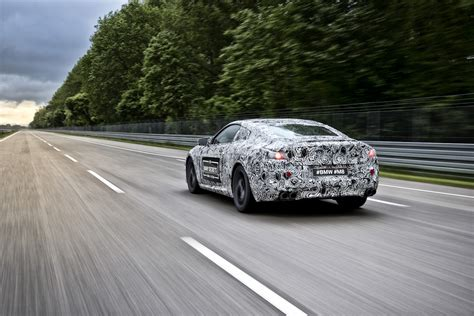 future bmw camouflaged early prototype of the future bmw m8