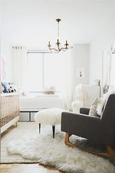 Nursery Sheepskin Rug by Get The Look Layered Rugs How To Layer Rugs Like A Pro
