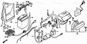 Honda Motorcycle 1986 Oem Parts Diagram For Battery    Fuel