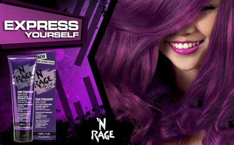 n rage color purple plum n rage brilliant demi permanente hair color