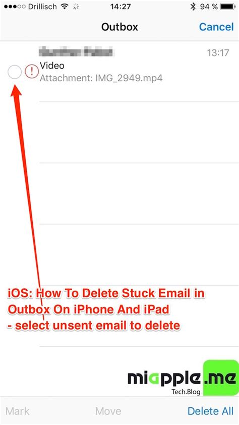 how to delete email on iphone ios how to delete stuck unsent email in outbox on iphone