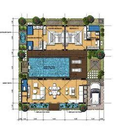 balinese house designs  floor plans google search