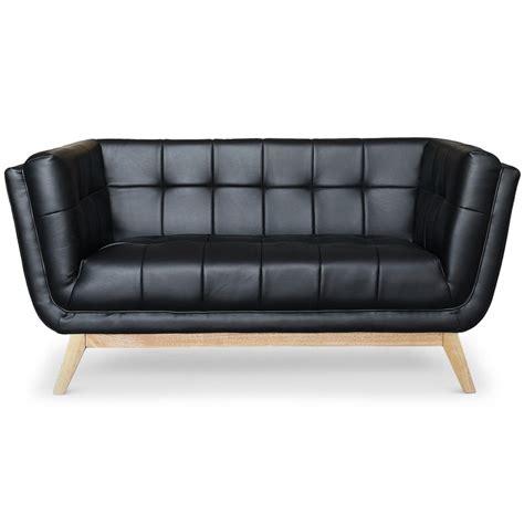 canapé noir 2 places canapé scandinave 2 places design noir pas cher déco
