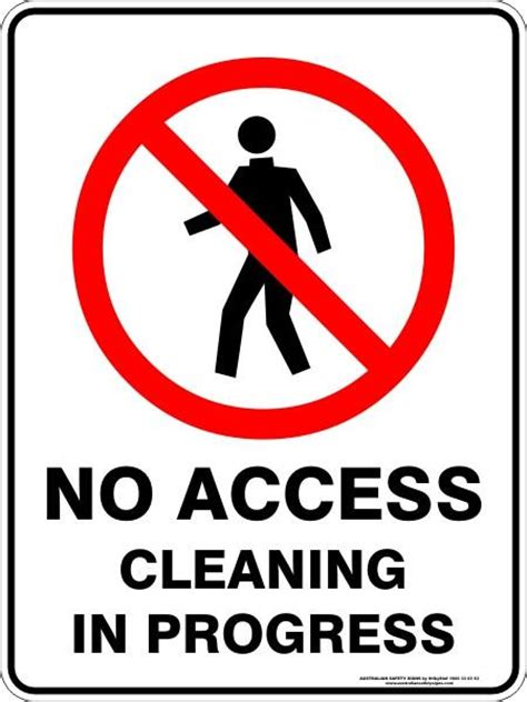 access cleaning  progress australian safety signs