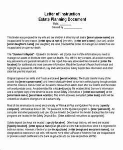 11 sample letter of instruction templates pdf doc for Sample letter of instruction for estate planning