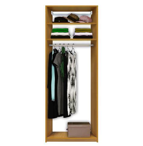 isa custom closet hanging closet 2 shelves at top