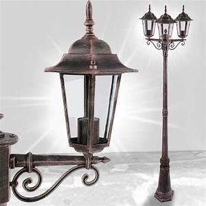 Lampadaire 3 Tetes : lampadaire couleur rouille en aluminium ext rieur 3 t tes ~ Teatrodelosmanantiales.com Idées de Décoration