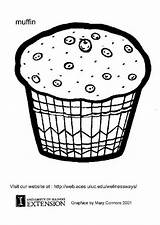 Muffin Coloring Pages Muffins Template Printable Edupics Sheets Colouring Craft Cartoon Cupcake sketch template