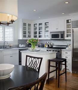 how to make an island work in a small kitchen 1138