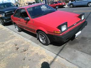 Toyota Corolla Coupe 1986 Red For Sale  Jt2ae86s9g0207065