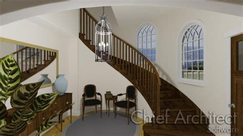 custom floor plan creating curved or spiral staircases