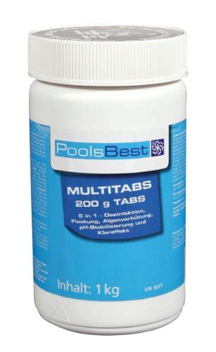 chlor multitabs test poolreiniger poolsbest chlor multitabs 5in1 200g tabs test