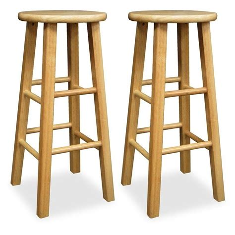 bar stool set   wooden stools natural counter height