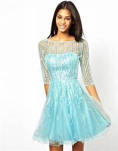 Forever unique Prom Dress with 34 Sleeves in Blue | Lyst