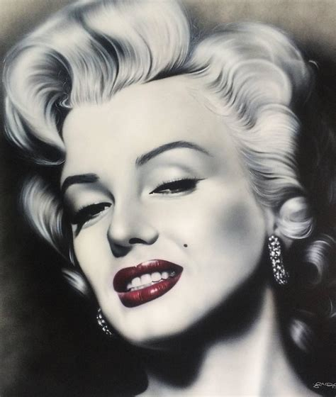 large oil  canvas marilyn monroe painting signed