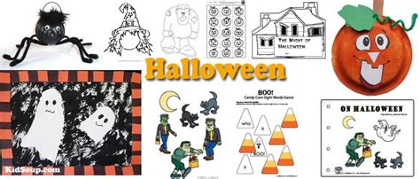 crafts activities and printables kidssoup 824 | Halloween crafts activities preschool