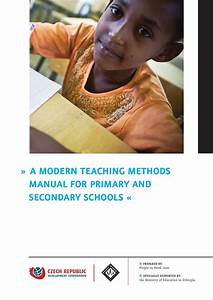 A Modern Teaching Methods Manual For Primary And Secondary