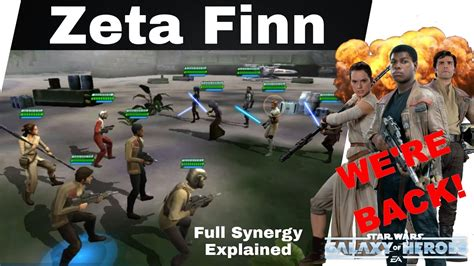 star wars galaxy  heroes zeta finn full resistance