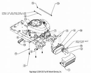 Mtd 13wn77ss031  Lt4200   2017  Parts Diagram For Engine