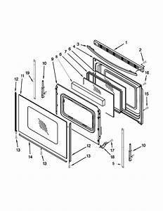 Door Parts Diagram  U0026 Parts List For Model Aer5630bas0