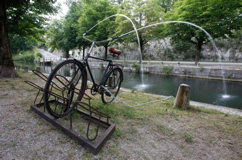 bike reimagined   water fountain  brad downey