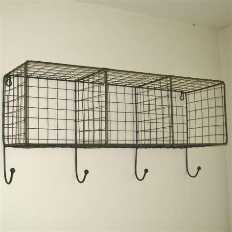 Wire Wall Shelf by Details About Metal Wire Locker Room Wall Shelf Hooks