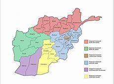 afghanistan carte province • Voyages Cartes