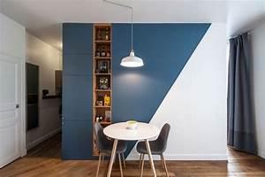 sejour peinture des idees pour peindre un mur du salon With charming marier couleurs peinture murale 12 sejour peinture des idees pour peindre un mur du salon