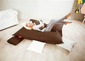 Sessel Zum Schlafen : sitzsack couch great relaxsessel sessel entspannung ~ Michelbontemps.com Haus und Dekorationen
