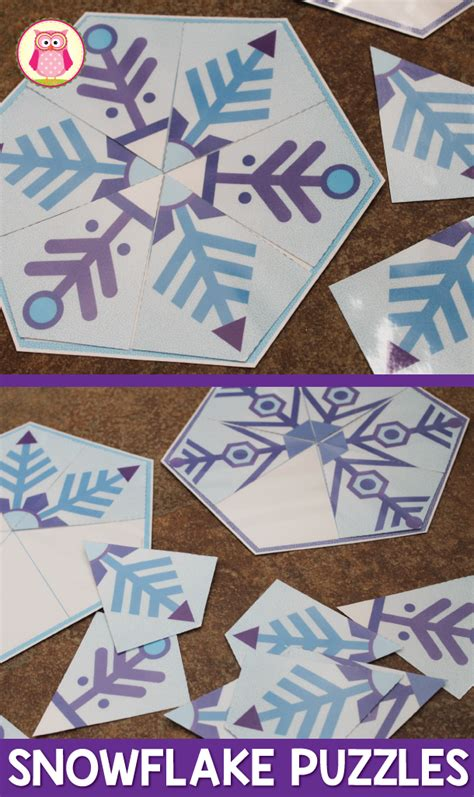 snowflakes snowflake matching puzzles snow activities 502 | 20f31b5996f0980446a187df164930a7