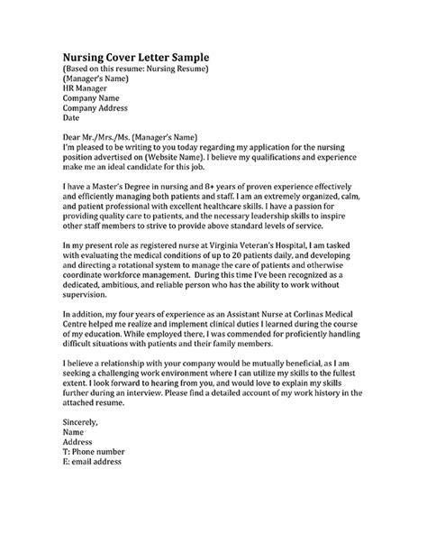 nursing cover letter rn cover letter jvwithmenow