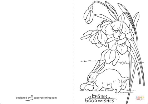 Coloring Cards by Easter Goodwishes Card Coloring Page Free Printable